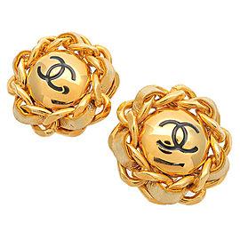 Chanel Leather Earrings