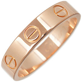 Cartier Mini Love 18K Rose Gold Ring Size 5