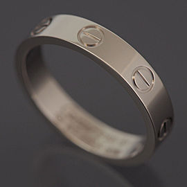 Cartier 18K WG Love Ring Size 5.5