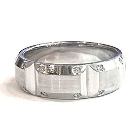 Simon G. 14K White Gold Diamond Ring Size 10