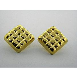 Omega 18K Yellow Gold Earrings