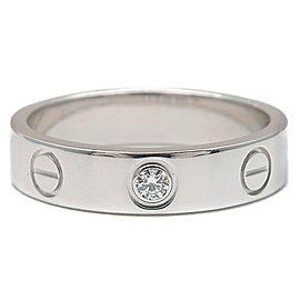Cartier 18K WG Mini Diamond Ring Size 4