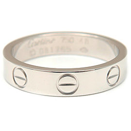 Cartier 18K WG Mini Love Ring Size 4.5