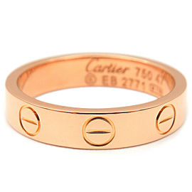 Cartier 18K RG Mini Love Ring Size 4
