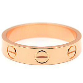 Cartier 18K RG Mini Love Ring Size 4.5