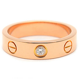 Cartier 18K RG Mini Love 1P Diamond Ring Size 4