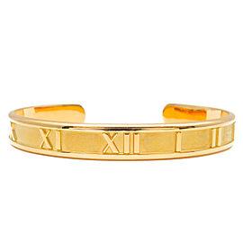 Tiffany&Co. 18K YG Atlas Cuff Bangle Bracelet