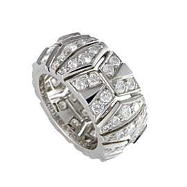 Cartier 18K White Gold with 1.75ct Diamond Band Ring Size 5.5