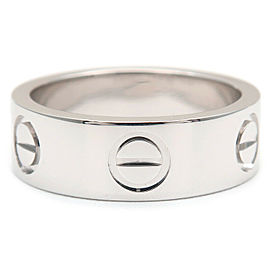 Cartier 18K WG Love Ring Size 4