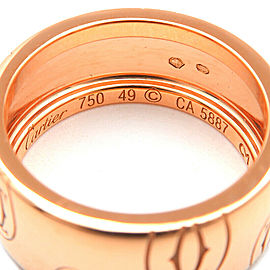 Cartier 18K RG Happy Birth Day Ring Size 5