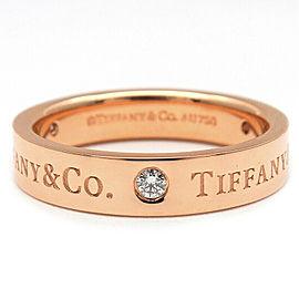 Tiffany&Co. RG Flat Band 3P Diamond Ring Size 5.5