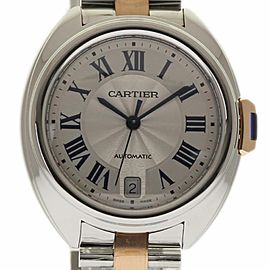 Cartier Cle 35mm W2CL0003 Steel 18K Pink Gold