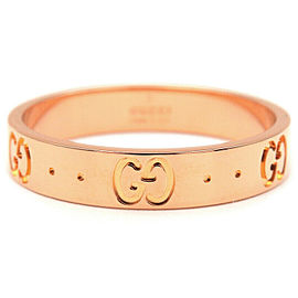 GUCCI 18K PG ICON Ring Size 7.5
