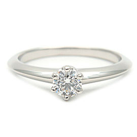 Tiffany&Co. Platinum Solitaire Diamond Ring Size 5