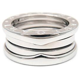 BVLGARI 18K WG B-zero1 Ring Size S White Gold Size 5