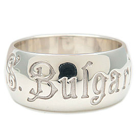 BVLGARI Silver Save the Children Charity Ring Size 9.5