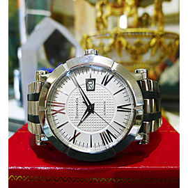 Tiffany & Co. Atlas Stainless Steel Rubber Automatic Mens 42mm Watch