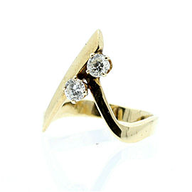 "14K YELLOW GOLD LADIES .40ct DIAMONDS "" A "" RING SIZE 7.5"