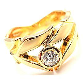 Carrera Y Carrera 18k Mi Princes Greco Roman Diamond Crown Ring