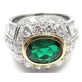 Patek Philippe Platinum Diamond Emerald Ring Certificate