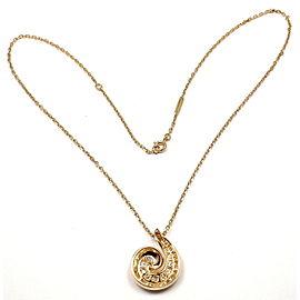 VAN CLEEF & ARPELS Breeze 18k Yellow Gold Diamond Swirl Necklace