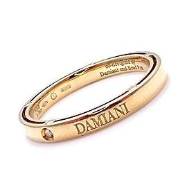 Damiani Brad Pitt 18k Yellow Gold Diamond 3mm Band Ring Sz 10.5