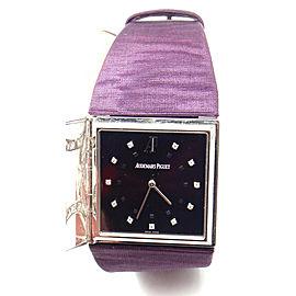 Audemars Piguet Danae 18k White Gold Diamond Satin Ladies Watch
