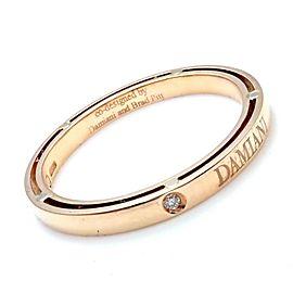 Damiani Brad Pitt 18k Yellow Gold Diamond 3mm Band Ring Sz 10