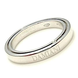 Damiani Brad Pitt Platinum 4 Diamond 3mm Band Ring Sz 7