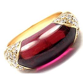 Bulgari Bvlgari 18k Yellow Gold Diamond Pink Tourmaline Ring