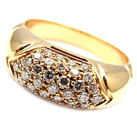 BULGARI BVLGARI 18k Yellow Gold Diamond Band Ring Sz 6