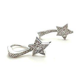 Chanel Comete 18k White Gold Diamond Star Earrings