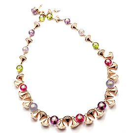 Bvlgari Bulgari Diva Dream Diamond Amethyst Rubellite Peridot Necklace