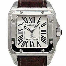 Cartier Santos 100 Large WSSA0007 White Roman Automatic