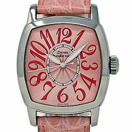 JeanRichard New Pink Sunray Stainless Steel