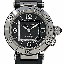 Cartier Pasha Seatimer 40mm W31077U2 Automatic Steel Rubber