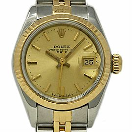 Rolex Oyster Perpetual 67193 26mm Stainless Steel Yellow Gold 1985