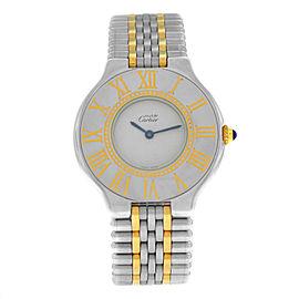Ladies Cartier Must de Cartier Quartz Steel Gold 31MM Bullet Bracelet Watch