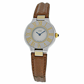 Ladies Cartier Must de Cartier 21 Quartz Steel Gold 28MM Watch