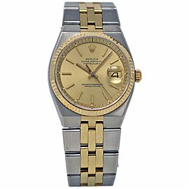 Rolex Datejust Oysterquartz 1630 36mm Steel Gold Integral Bracelet