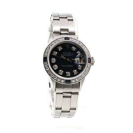 Ladies Rolex Oyster Perpetual Datejust Diamond Bezel Dial Stainless Steel Watch