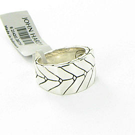 John Hardy Modern Chain Mens Ring 13mm Wide Sterling Silver Size 10