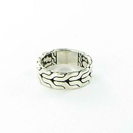 John Hardy Classic Chain Ring 8mm Wide Men's Band Sterling