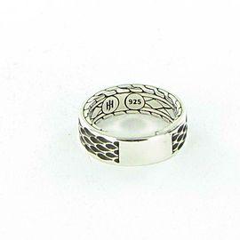 John Hardy Naga 7mm Band Ring Mens Darkened Sterling Silver Size 10