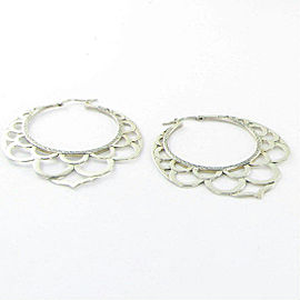 John Hardy Earrings Legends Naga Side Facing Lace Hoops Sterling Silver