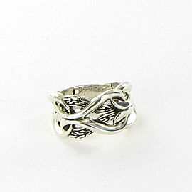 John Hardy Asli Classic Chain 13mm Ring Sterling Silver Size 7