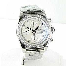 Breitling Chronomat 38mm Diamond Bezel MOP Dial Mid Watch A1331053/A776-385A