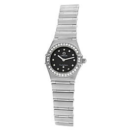 Lady Omega Constellation My Choice 1465.51 Steel Diamond Quartz 22MM Watch