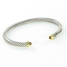 David Yurman Cable Classics Bracelet 5mm Citrine Diamond 14K Sterling 925