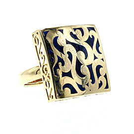 14K YELLOW GOLD WIDE ORNATE RING 6 GRAMS SIZE 7.75 RING
